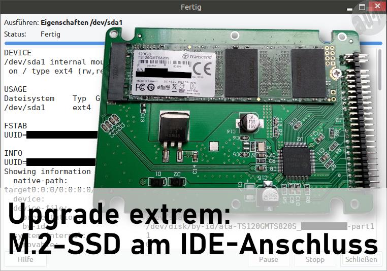 Upgrade extrem - M.2-SSD am IDE-Anschluss
