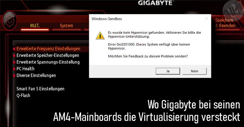 Virtualisierung bei AM4-Mainboards von Gigabyte