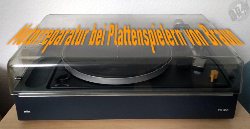 Motorreparatur bei Plattenspielern von Braun