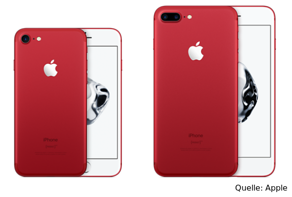 iPhones 7 in rot