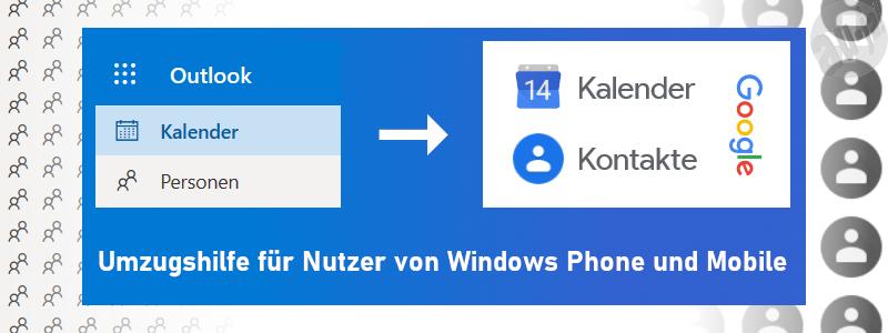 Kontakte und Kalender von Windows zu Android übertragen